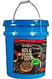 "Blue Ridge Fish Food Pellets [14lb] Koi and Goldfish Growth Formula, Floating 3/16"" Pellet, Balanced Diet"