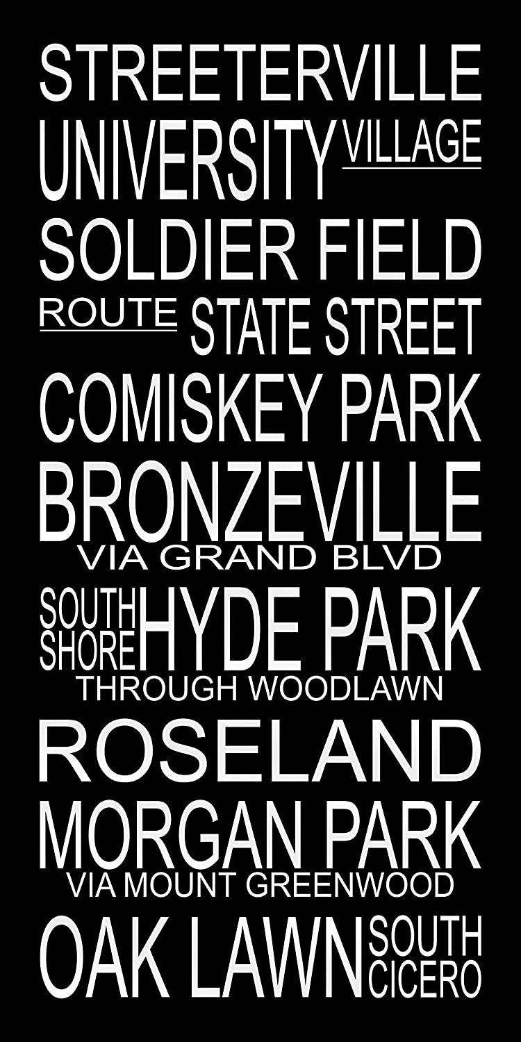 Amazon Com Chicago Subway Sign Print Soldier Field Comiskey Park Hyde Park Oak Lawn Multiple Sizes Handmade