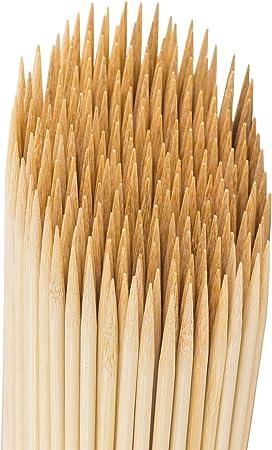"150 x 10/"" Biodegradable Bamboo BBQ Skewers Wood Shish Kebab Grill Sticks Fork"