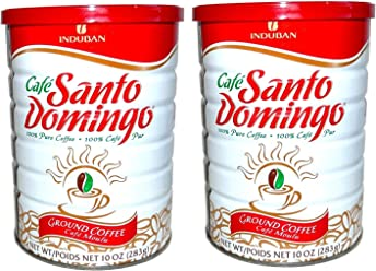 Santo Domingo 100% Pure Ground Coffee Vacuum Packed Can 10 Oz. (Pack of