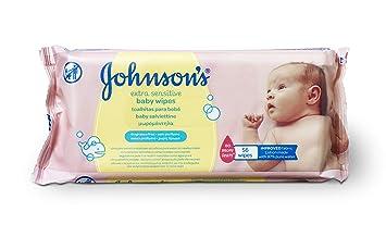 Johnsons Baby - Toallitas para Bebe Extra Sensibilidad - 12 Paquetes de 56 toallitas - [