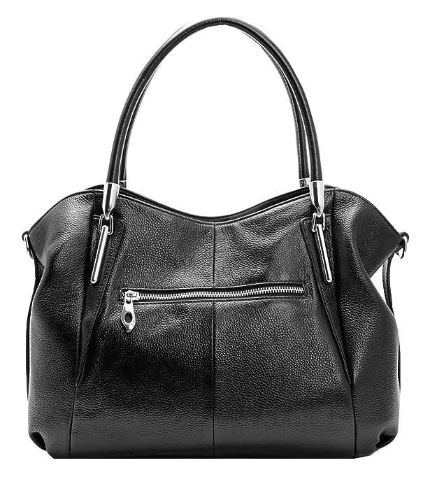 Amazon.com  Heshe Womens Leather Handbags Tote Bag Top Handle Bag Hobo Shoulder  Handbag Designer Ladies Purse Cross Body Bag (Black)  Shoes 07d36b42489fc