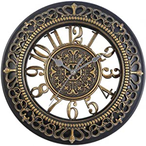 2 Inch Wall Clock Silent Non Ticking,Quality Quartz,Battery Operated,Round Easy to Read,Glass Cover,for Kitchen,Living Room,Bathroom,Bedroom,Home,Office,Classroom, School