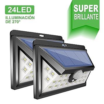 24 LED Luz Solar Exterior GRAN´T Iluminación Exterior Led de 270° Luz Solar