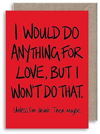 Cheeky Anniversary Card Funny Valentines Card Boyfriend