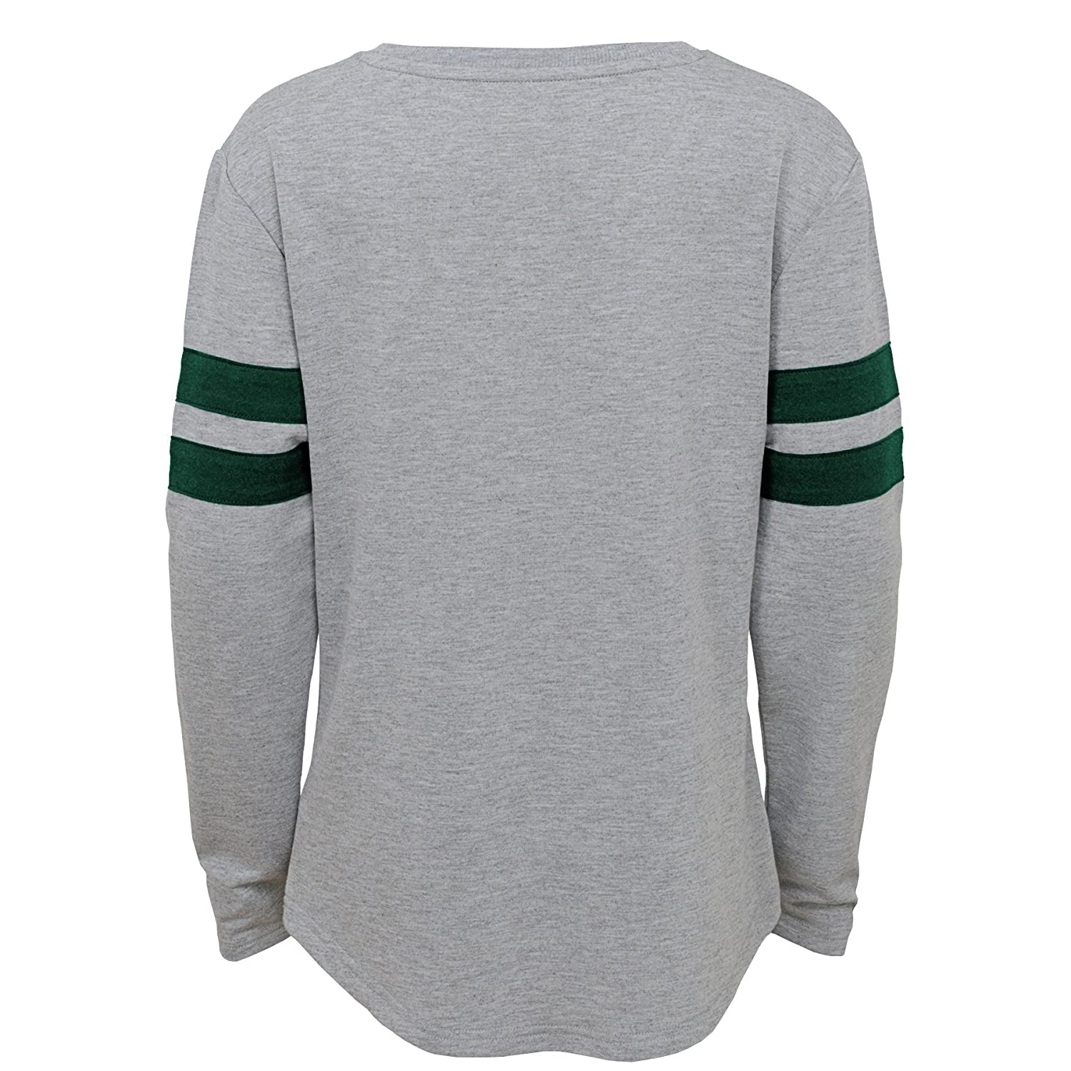 10-12 Youth Medium Outerstuff NFL NFL New York Jets Youth Girls Field Armor Long Sleeve Dolman Tee Heather Grey