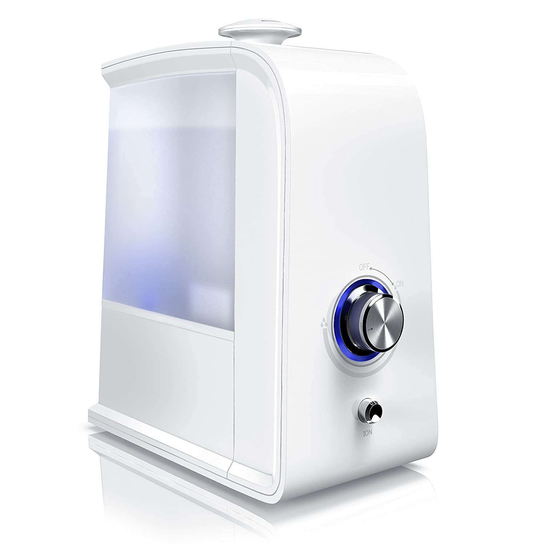 Humidificador Arendo | Humidificador de interiores | Difusor por ultrasonido | Purificador de aire| Tecnología de ultrasonido | Neutralización de olores mediante ionización (opcional) | Recipiente de agua de 3500 ml | LED de señalización | Mejora la salud