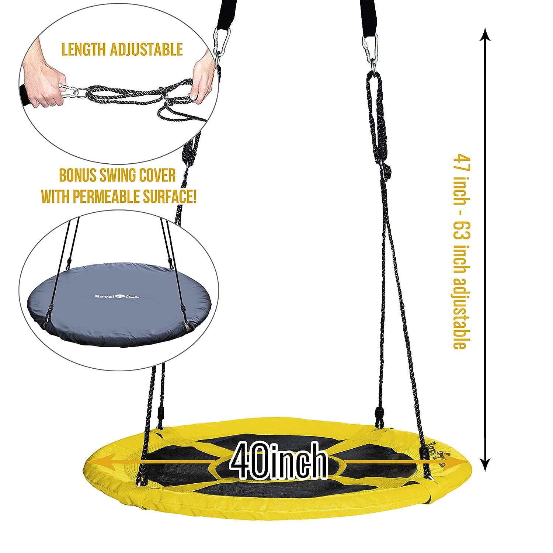 Bonus Flags Royal Oak Giant 40 Flying Saucer Tree Swing Steel Frame 700 lb Weight Capacity Easy Install
