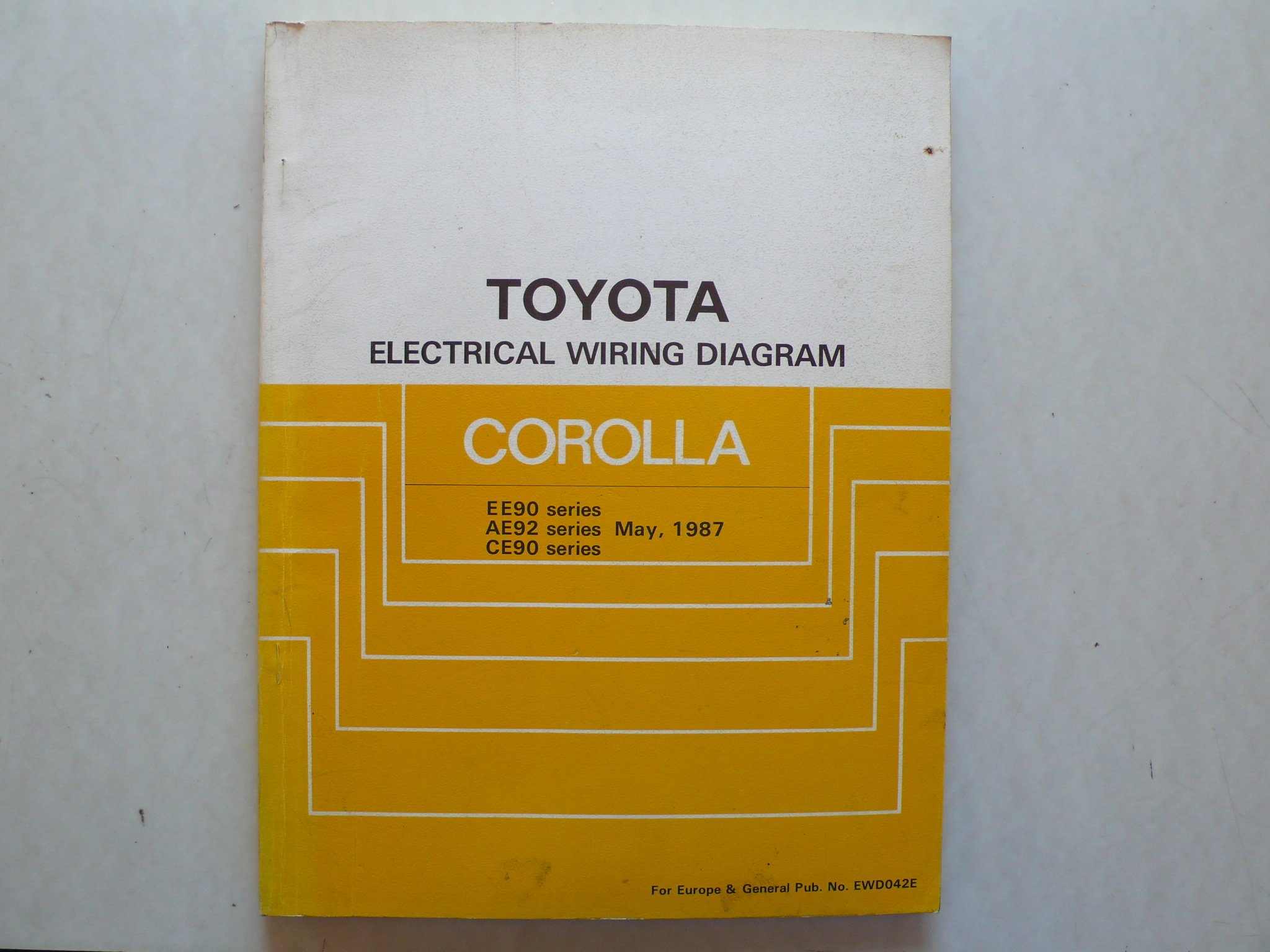 Peachy Toyota Corolla Ee90 Ae92 Ce 90 Serie Electrical Wiring Diagram Wiring Digital Resources Bemuashebarightsorg