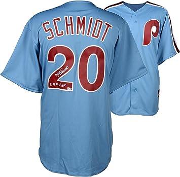 release date cf1d8 7a837 Mike Schmidt Philadelphia Phillies Autographed Majestic ...