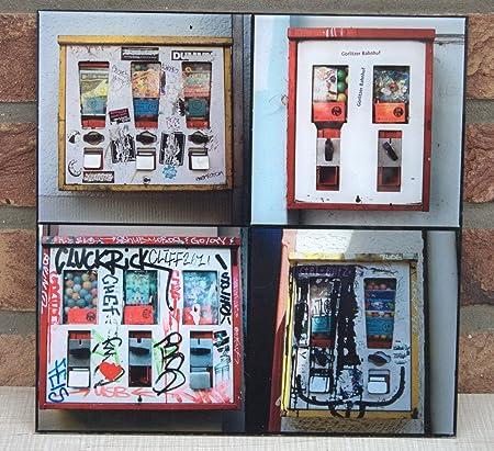 Wall Mural Photo Frame Seventies 70s Art Pop Art Gumball Dispenser