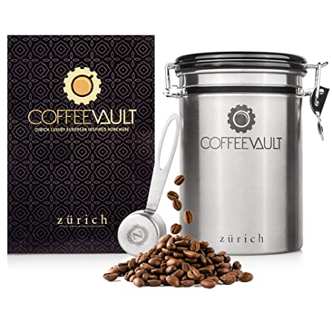 e87aab2fd Coffee Storage Container Airtight - Coffee Canister with Scoop - Large  Stainless Steel Coffee Storage Vault