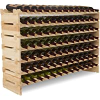 Mecor Wine Rack Storage Holder Stackable Display Shelves Solid Wood
