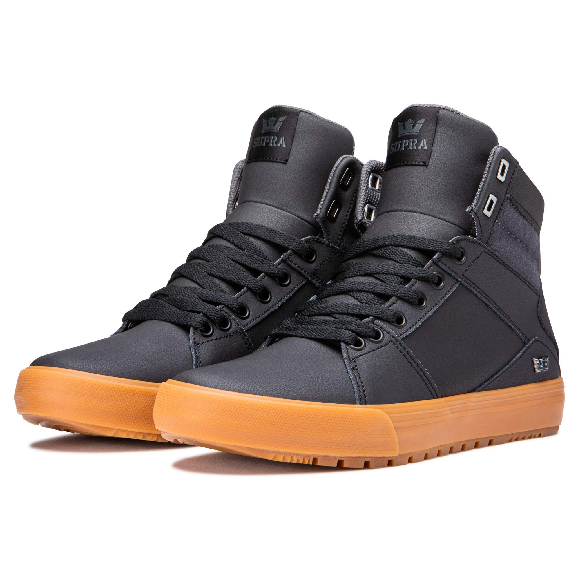 Supra Footwear - Aluminum Cold Weather High Top Skate Shoes, Black, 11.5 M US Women/10 M US Men by Supra