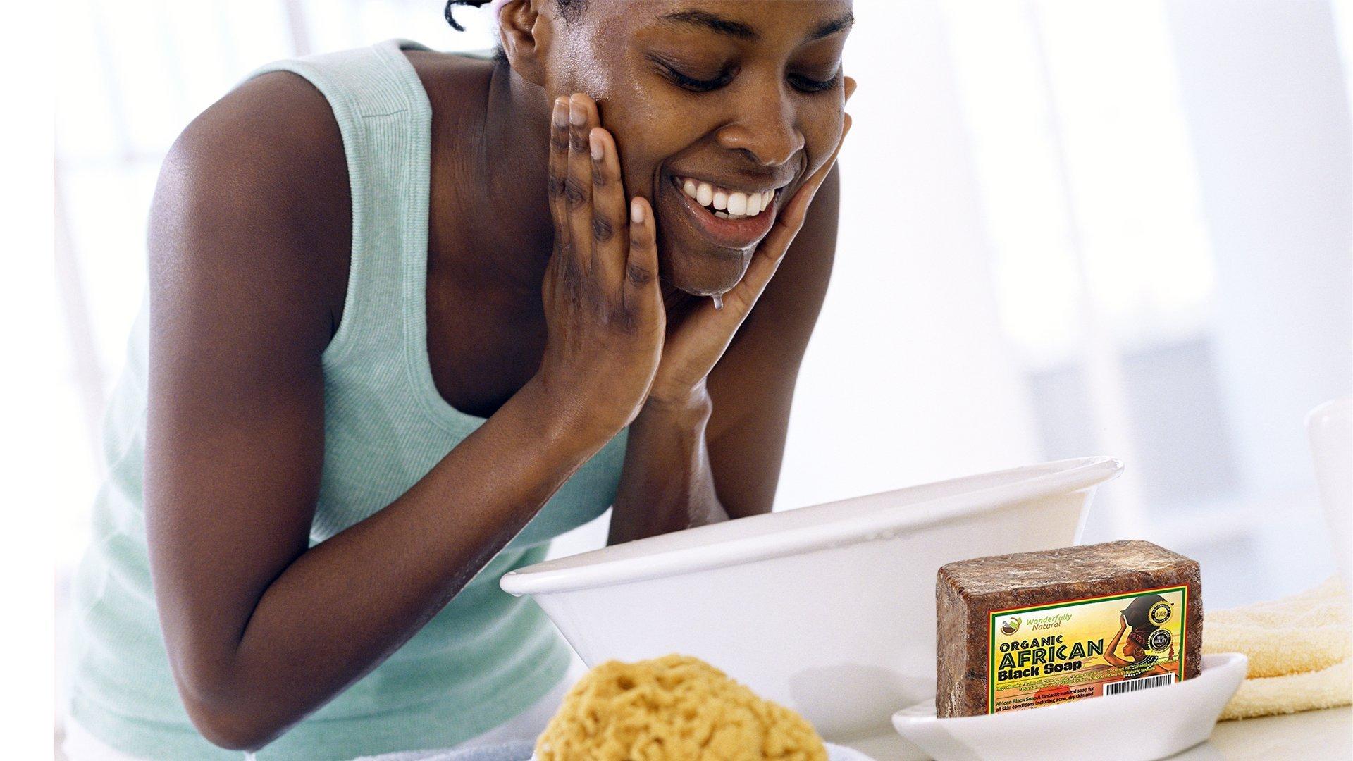 Wonderfully Natural African Black Soap Bar   100% Organic 1lb   Black soap Acne Treatment   Eczema Natural Soap   60 day Satisfaction Guarantee by Wonderfully Natural (Image #5)