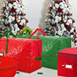 WHYSKO Christmas Light Storage Box with Lid and