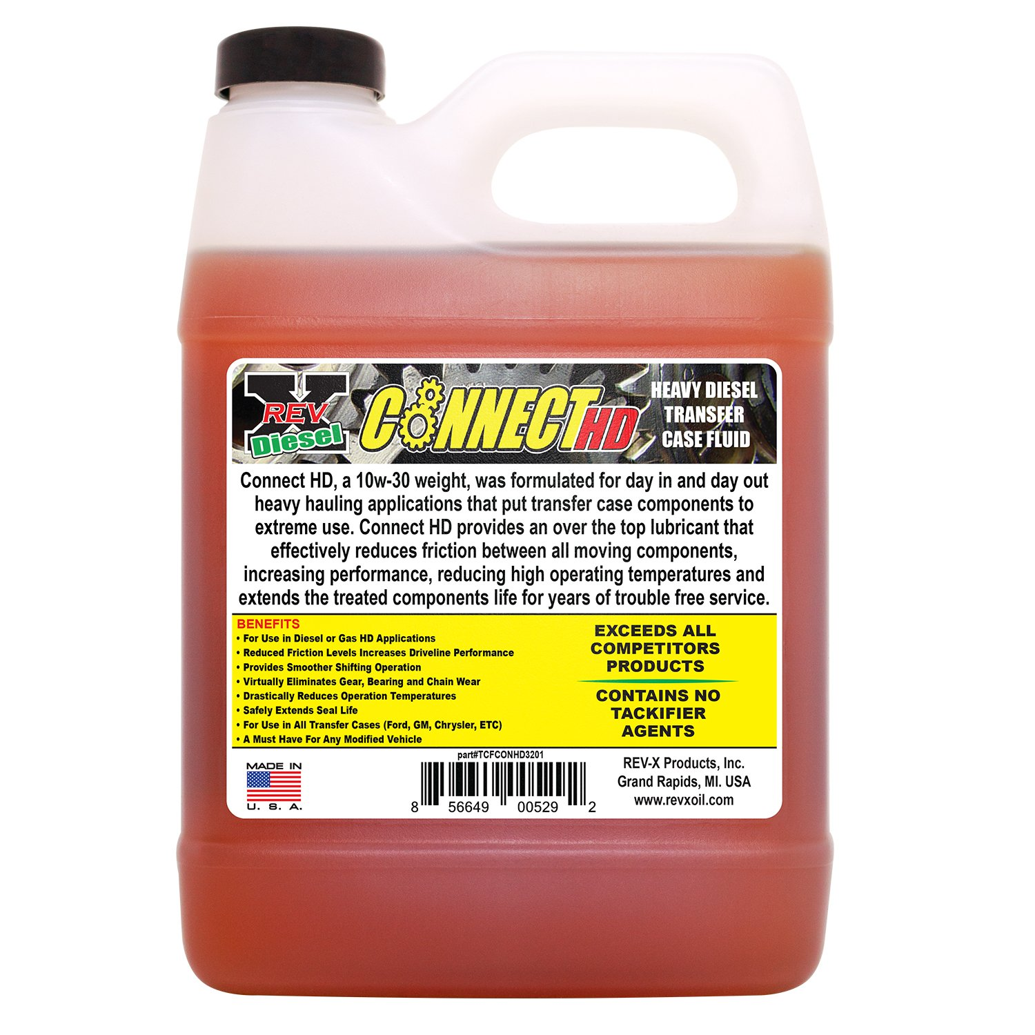 Amazon com: REV-X CONNECT HD 10W-30 4x4 Transfer Case Fluid