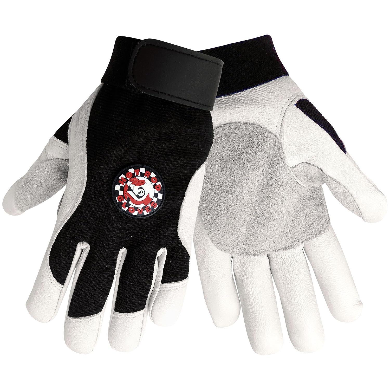 Global Glove HR3008 Goatskin Premium Grade Hot Rod(TM) Sport Glove with Black Spandex Back and Elastic Cuff, Work, Large (Case of 48) by Global Glove B00AIZ5S0Y