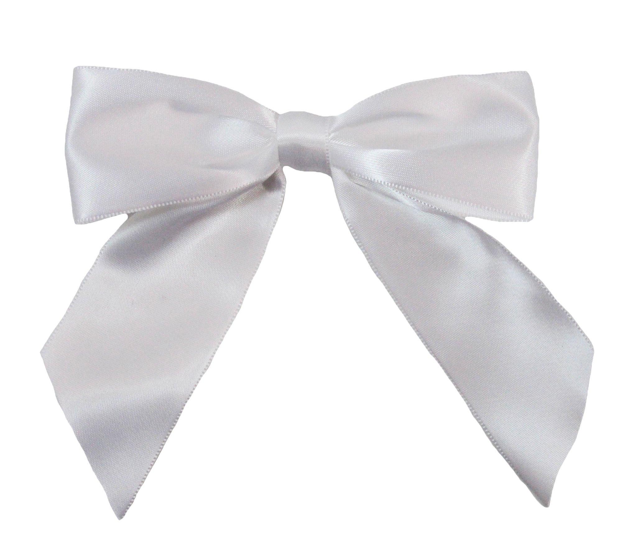 Wholesale Princess 5'' Satin Hair Bow (White)