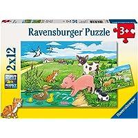 Ravensburger Baby Farm Animals 2x12pc Puzzle,Children's Puzzles