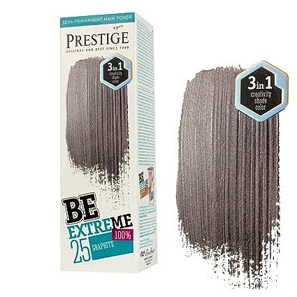 Be Extreme Tóner Semi Permanente para Pelo, Color Grafito 25 - Sin Amoniaco, Sin