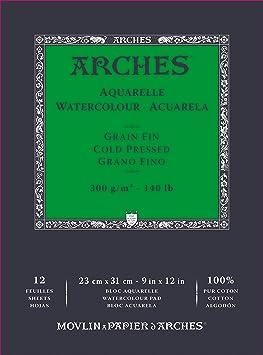 Oferta amazon: Bloc Enc 23x31 12H Arches Aquarelle 100% Fino 300g Blanc Nat