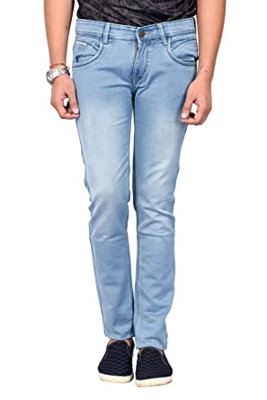 1d5bcabdfd0 Waiverson Slim Fit Men s Light Blue Stretchable Jeans  Amazon.in  Clothing    Accessories