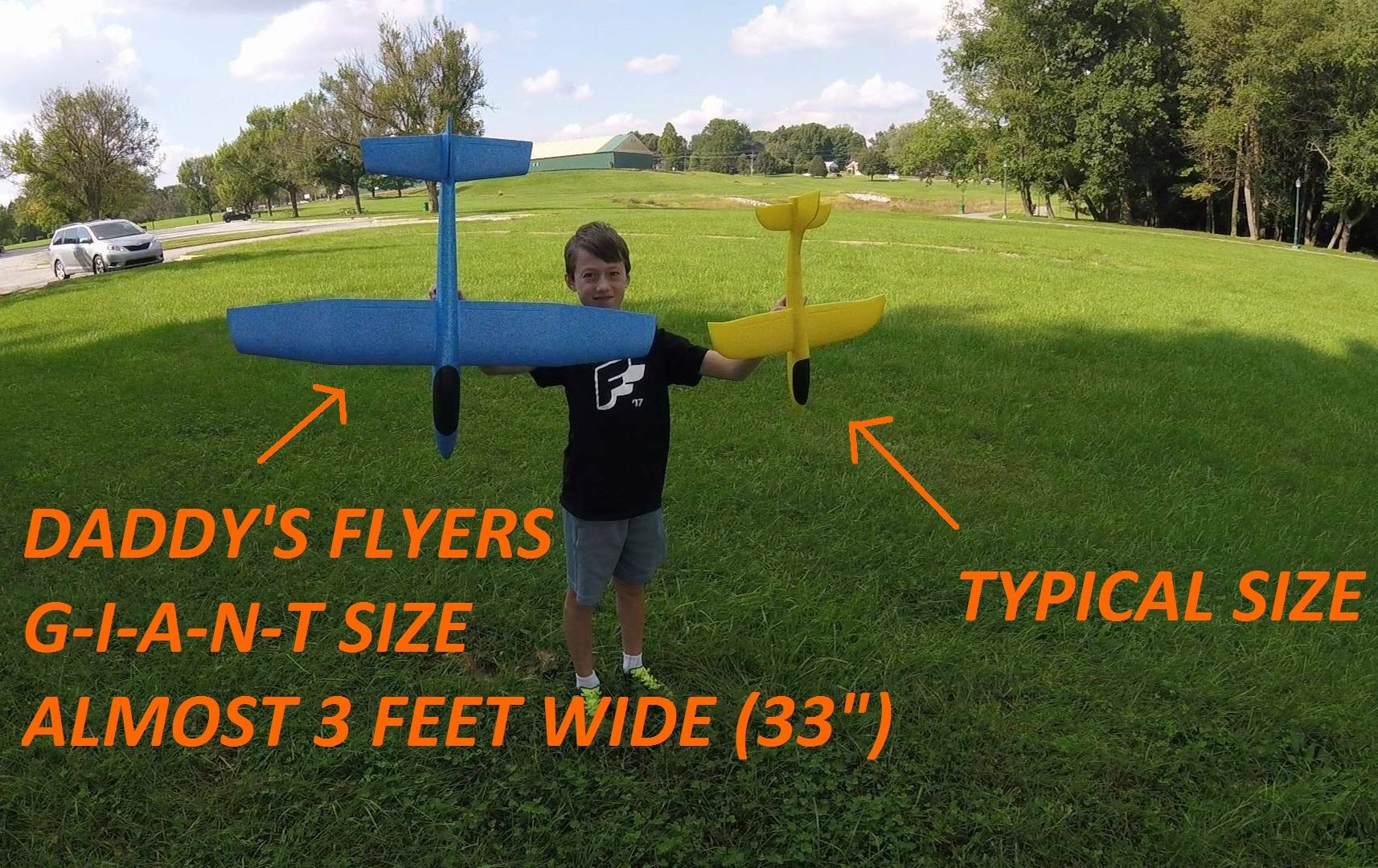 G-I-A-N-T (Almost 3 FEET), Great Flying, Almost Unbreakable, Large Foam Glider Plane. Virgin EPP Foam. Ideal for RC Conversion! Similar to LIDL Gliders Sold Out in Europe! by Daddy's Flyers (Image #8)