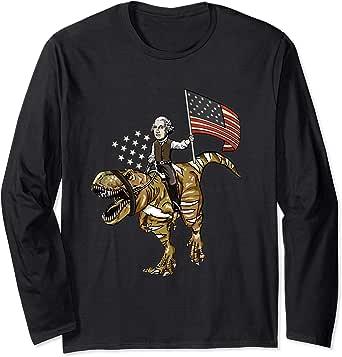 Amazon.com: George Washington Riding a T-Rex Dinosaur 4th ...