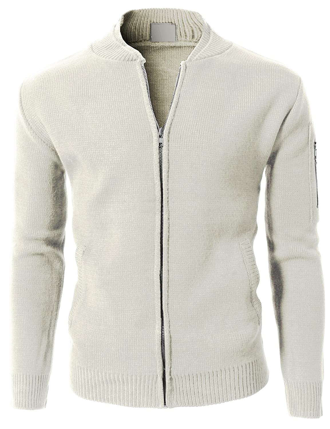 H2H Mens Casual Knitted Pocket Point Zip-up Cardigan [ZDC_722324 ...