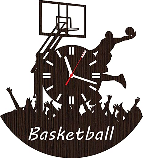 Wooden Wall Clock Basketball Gifts For Men Women Boys Dad Husband Him Teen Girls Players Coaches