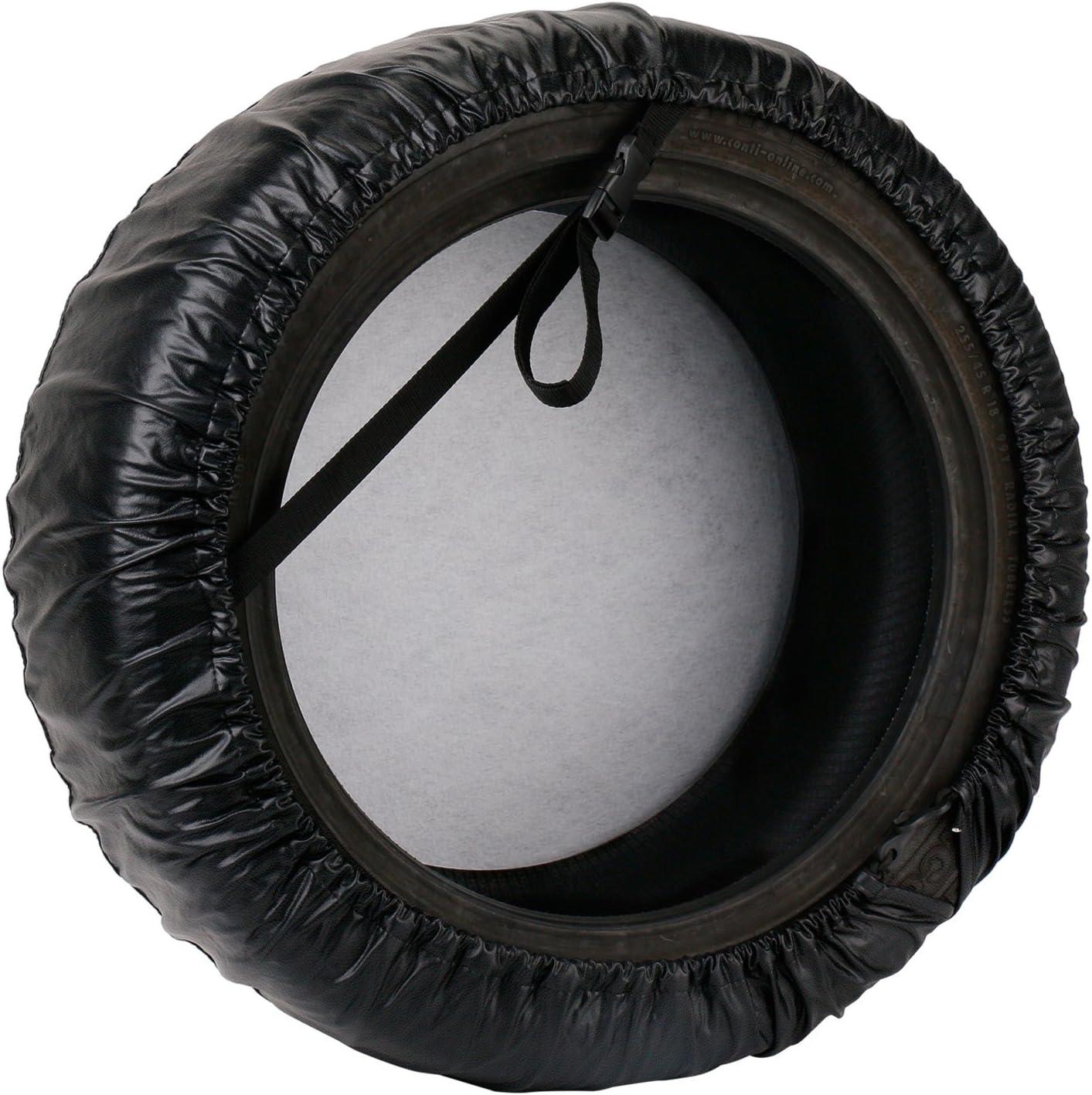 RV Leader Accessories Univesal Spare Tire Cover For Jeep SUV Trailer Truck Wheel Black, 22-24