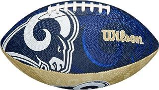 Wilson NFL Team Logo Junior Size Football-Los Angeles Rams, Blue