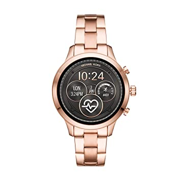 852149d68eef Image Unavailable. Image not available for. Color  Michael Kors Women s Access  Runway Stainless Steel Plated Touchscreen Watch ...