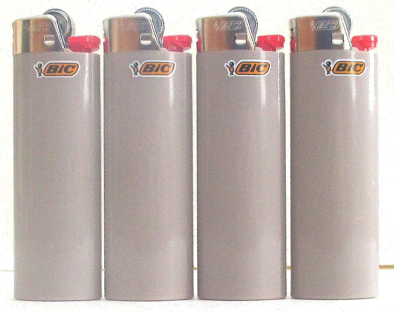 LIGHTERS Bic - Lote de 4 lotes de carbón gris, tamaño completo: Amazon.es: Deportes y aire libre