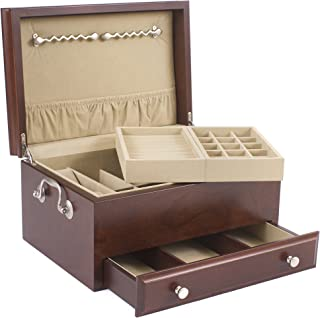 product image for American Chest Contessa Jewelry Box ,Solid CHERRY with Mahogany Finish by American Chest