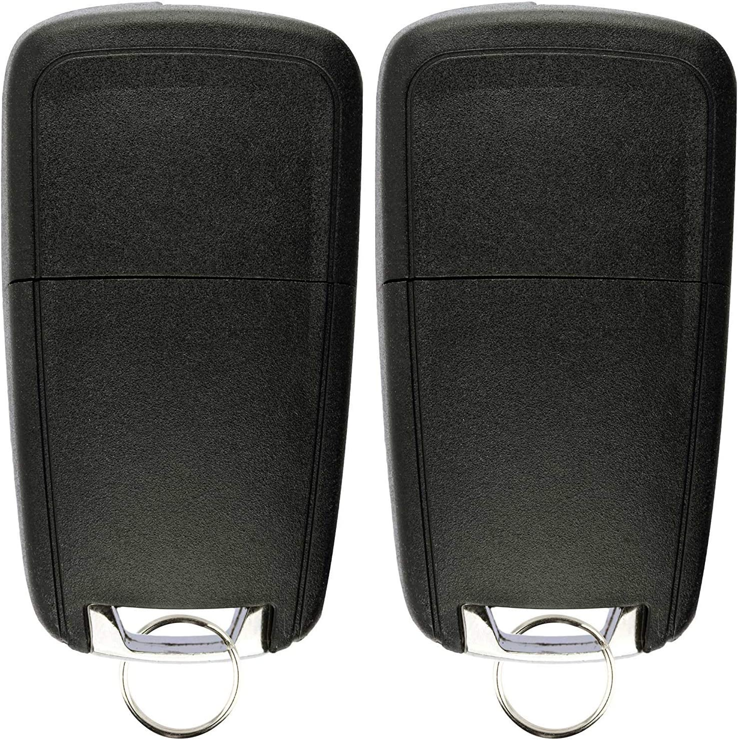 KeylessOption Keyless Car Remote Uncut Flip Ignition Key Fob Replacement for OHT01060512 Pack of 2