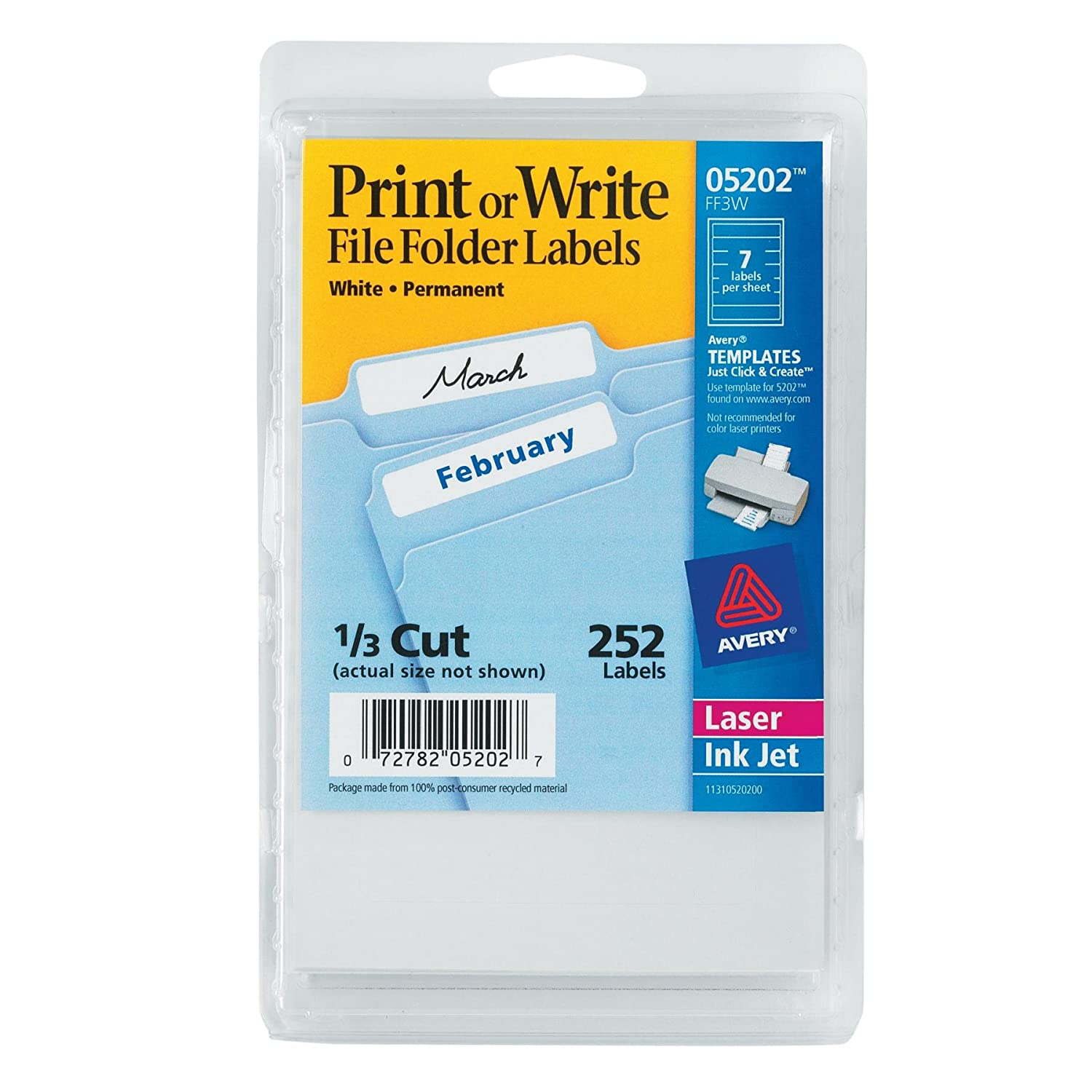 Avery File Folder Labels 252ct...