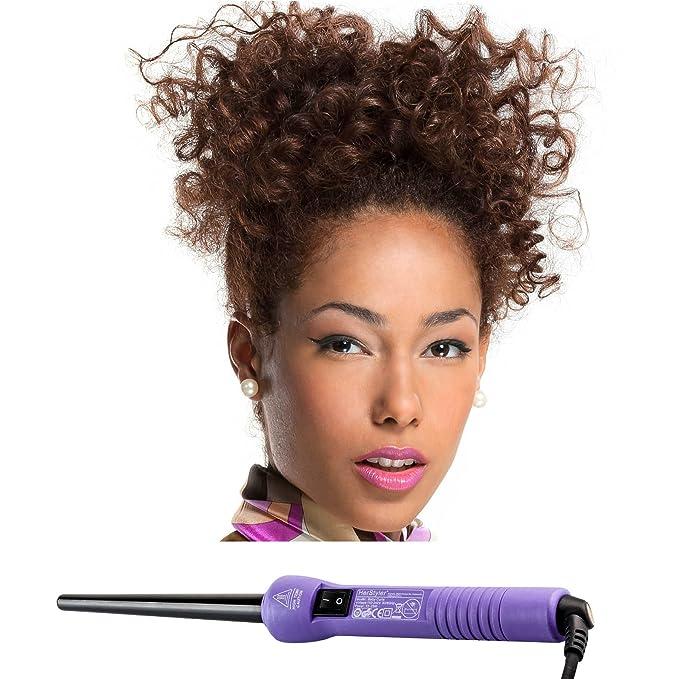 herstyler Professional Baby rizador XXX 9 mm - 18 mm para perfecta Baby Curls, color morado: Amazon.es: Salud y cuidado personal
