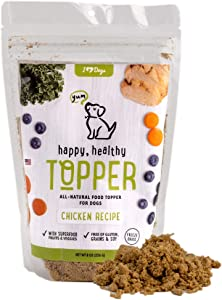iHeartDogs Dog Food Topper - Freeze-Dried Raw Dog Food Seasoning - Grain Free Superfood Meal Mixer (Chicken, 8 Ounce)