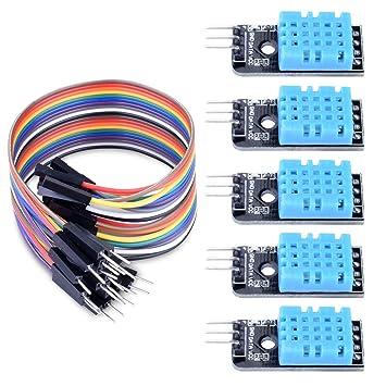 Awe Inspiring Longruner 5 Pcs Temperature Humidity Sensor Module Dht11 With 20Pin Wiring 101 Ferenstreekradiomeanderfmnl