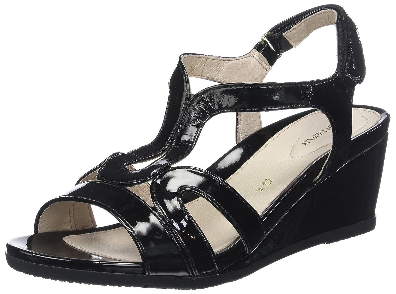 TALLA 35 EU. Stonefly Sweet III 8 Patent, Zapatos con Tacon y Correa de Tobillo para Mujer