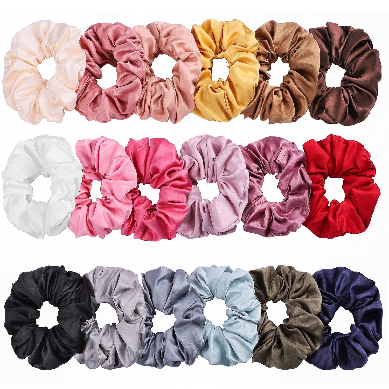 New Handmade 'Pearl By Peach Fabric' Grey Hair Scrunchie Ponytail Hairbands