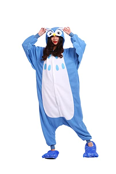 YUWELL Kigurumi Pijamas Adulto Anime Cosplay Traje Outfit Onesie Halloween, Búho S (Height: