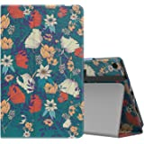 MoKo Case for All-New Amazon Fire HD 10 Tablet (7th Generation, 2017 Release) - Slim Folding Stand Cover with Auto Wake / Sleep for Fire HD 10.1 Inch Tablet, Beautiful Flowers