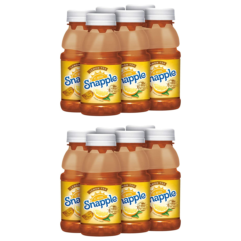 Snapple Lemon Tea, All Natural, Made From Green & Black Tea, 8oz Bottle (Pack of 12, Total of 96 Fl Oz)