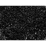"""1/2 Pound Black Anodized Aluminum Jump Rings 18G 5/32"""" ID (4800+ Rings!)"""
