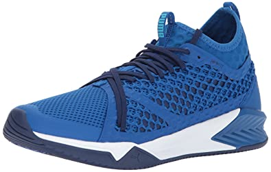 PUMA Men s Ignite XT Netfit Cross Trainer Lapis Blue White 20c1105c9