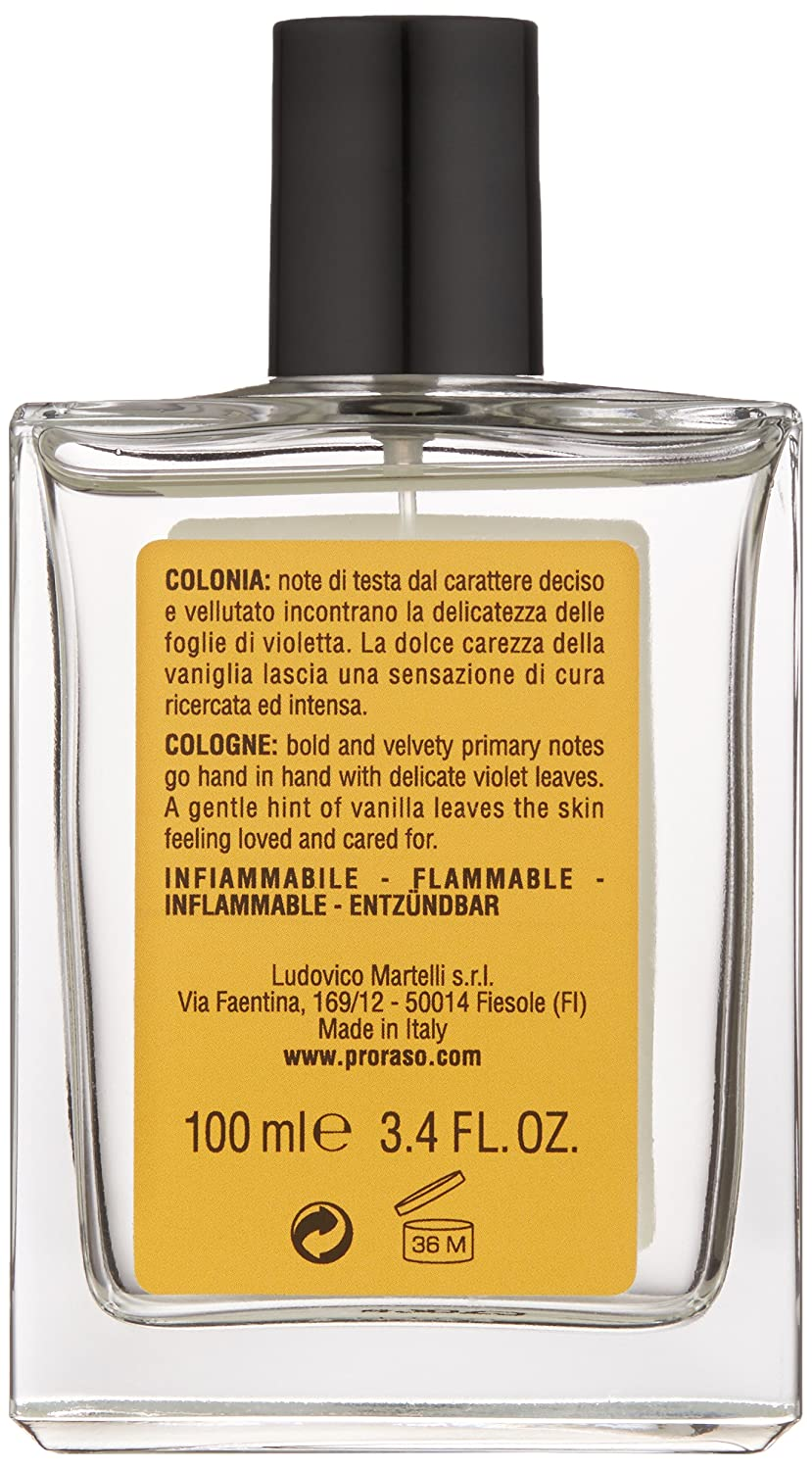 Amazon.com: Proraso - Eau de Cologne - Wood & Spice - SINGLE BLADE - 100 ml: Luxury Beauty