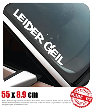 Leider Geil Frontscheibenaufkleber 550 Cm X 89 Cm Auto Aufkleber Jdm Oem Tuning Sticker Decal 30 Farben Zur Auswahl